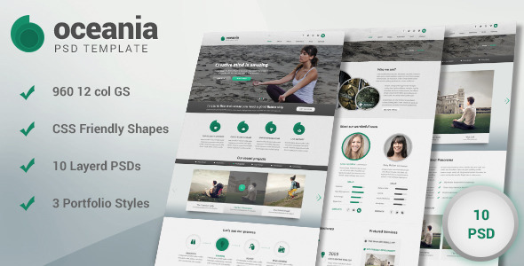 ThemeForest Oceania PSD Template 5555574