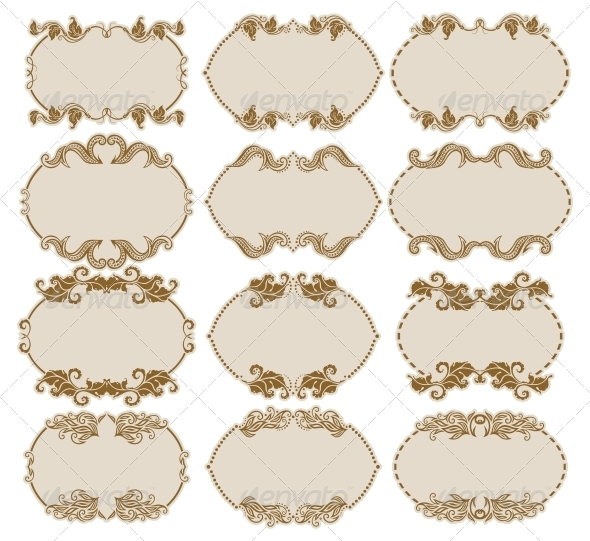 GraphicRiver Decorative Frames 5555629