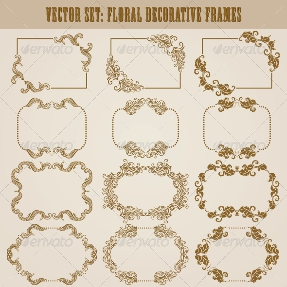GraphicRiver Decorative Frames 5555814