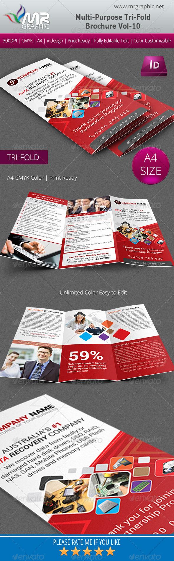 GraphicRiver Multipurpose Business Tri-Fold Brochure Vol-10 5555819