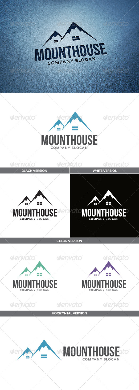 GraphicRiver MountHouse Logo 5555871