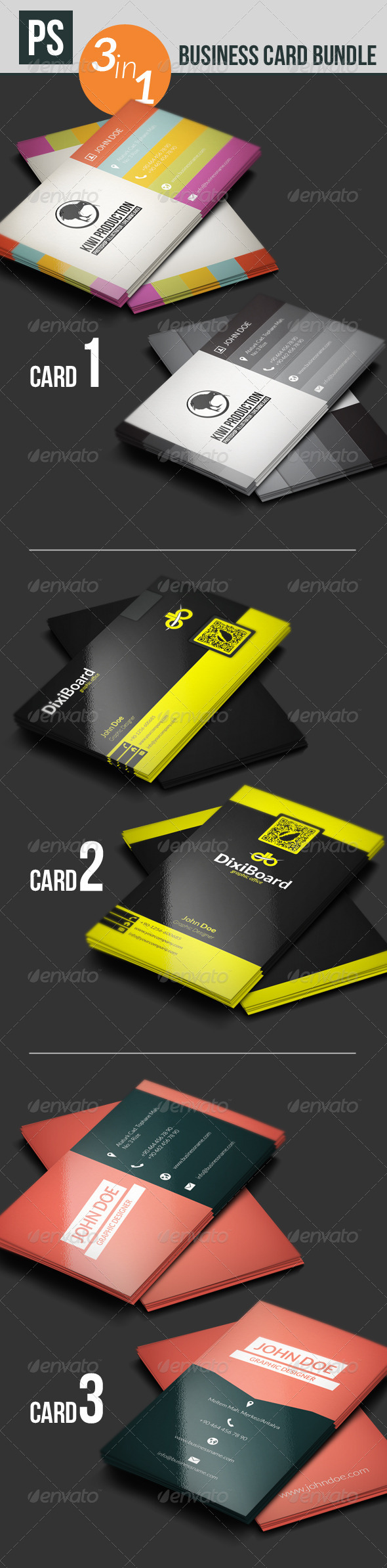GraphicRiver Business Card Bundle 5555966