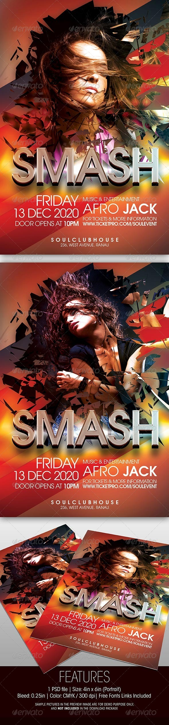 GraphicRiver Smash Party Flyer 5556330
