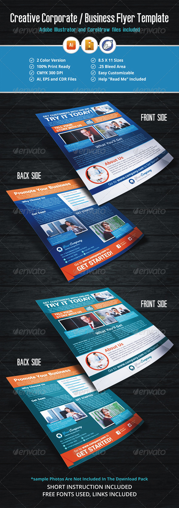 GraphicRiver Creative Business Flyer Template 5556333
