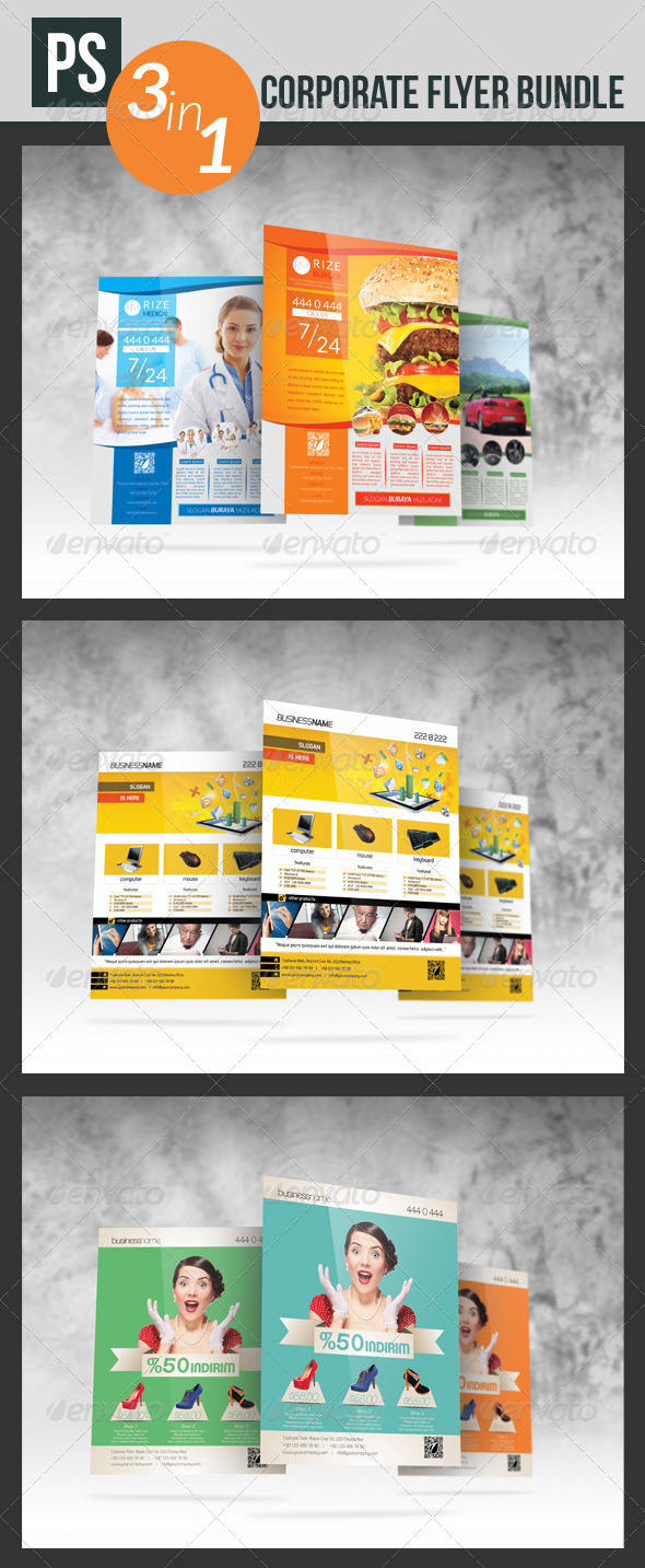 GraphicRiver Corporate Flyer Bundle 5556336