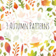 3 Autumn Leaves Patterns - GraphicRiver Item for Sale