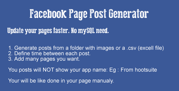 CodeCanyon Facebook Page Post Generator 5556768