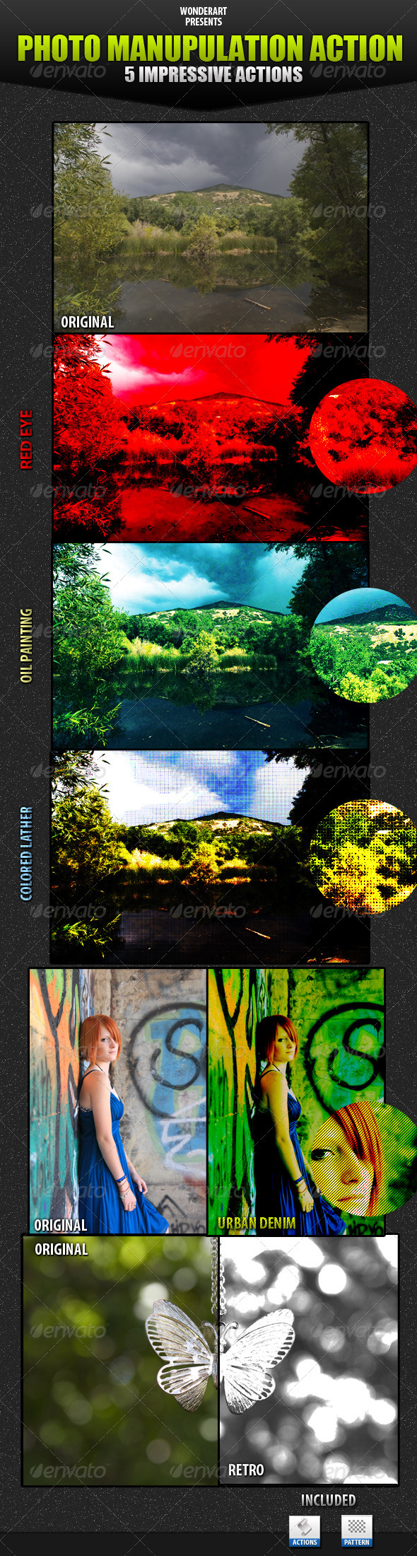 Graphic River Photo Manupulating Action Add-ons -  Photoshop  Actions  Photo Effects 161666
