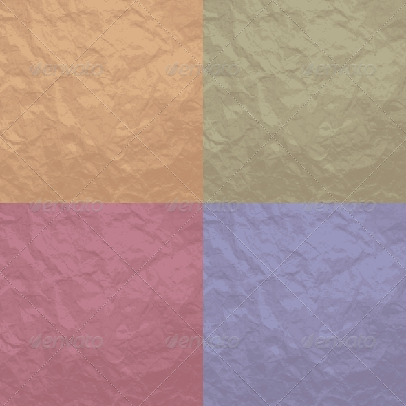 Set of 4 Crumpled Paper Backgrounds