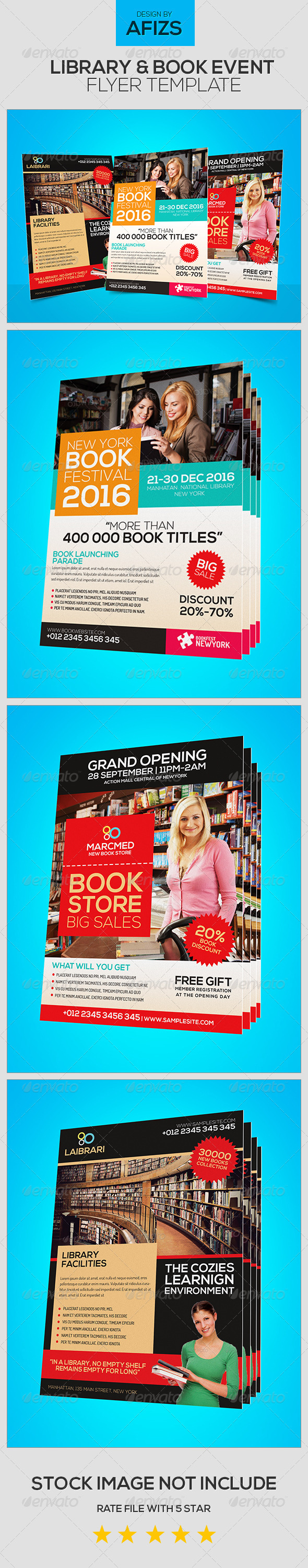 GraphicRiver Library & Book Event Flyer 5532719