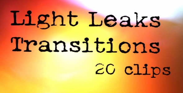VideoHive Light Leaks Transitions 1 5556813