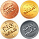 Set gold, silver, bronze price tag and sale signs - GraphicRiver Item for Sale