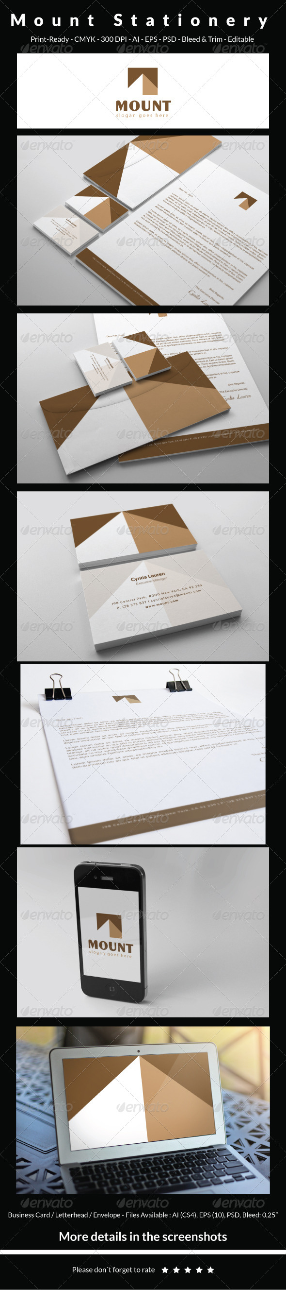 GraphicRiver Mount Stationery 5557119