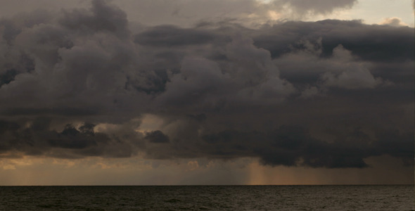Seascape and storm clouds VideoHive 571891 Stock Footage Time Lapse