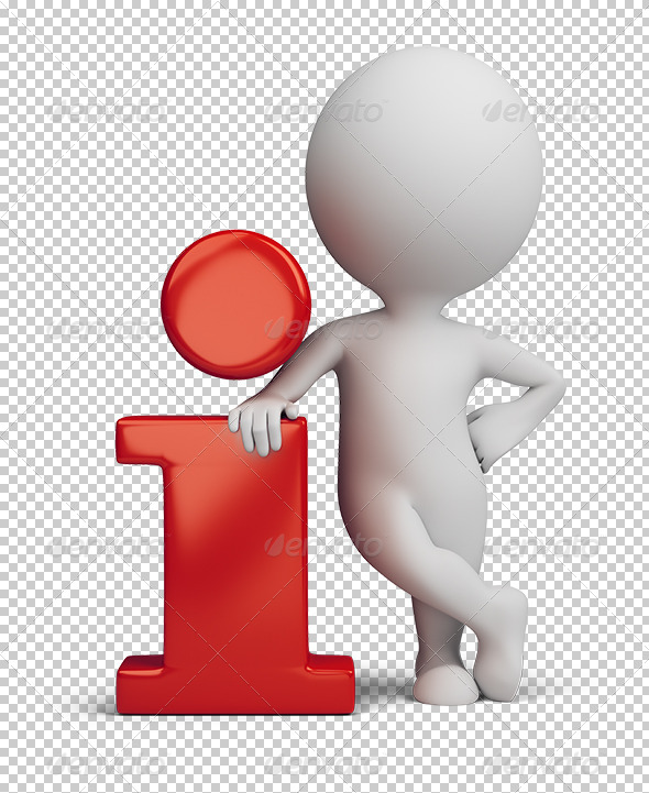 3D small people info icon