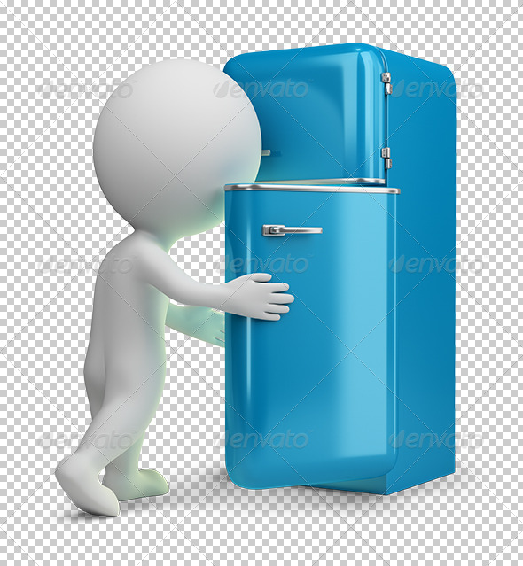 GraphicRiver 3D small people retro fridge 5557601