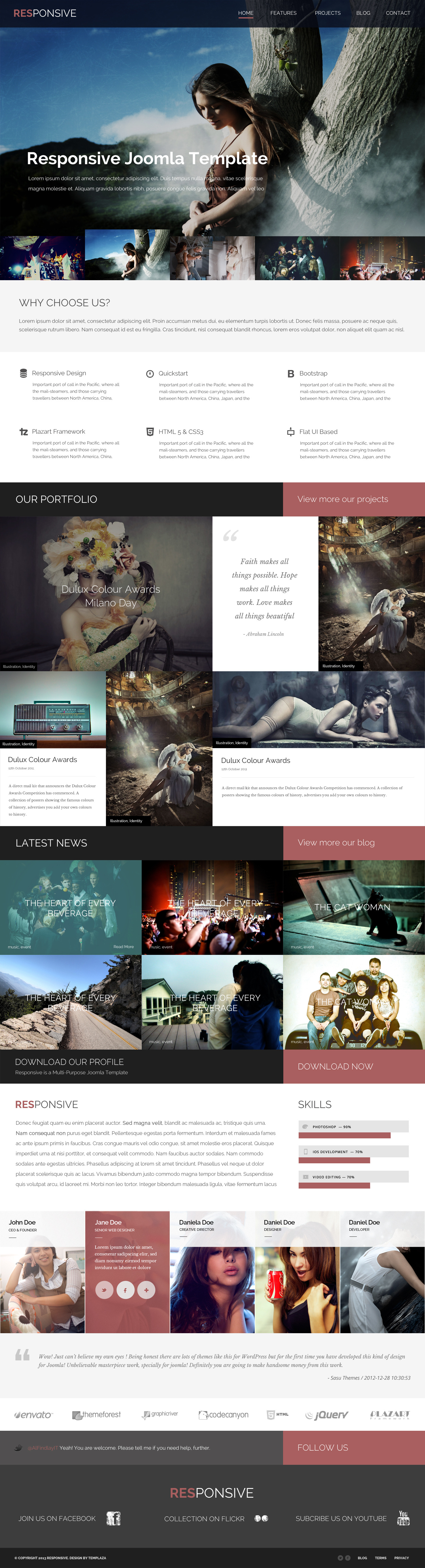Responsive - Multi-Purpose Joomla Template