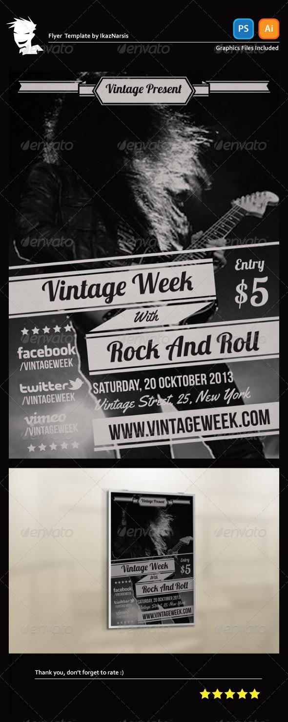GraphicRiver Vintage Week Flyer Template 5539082