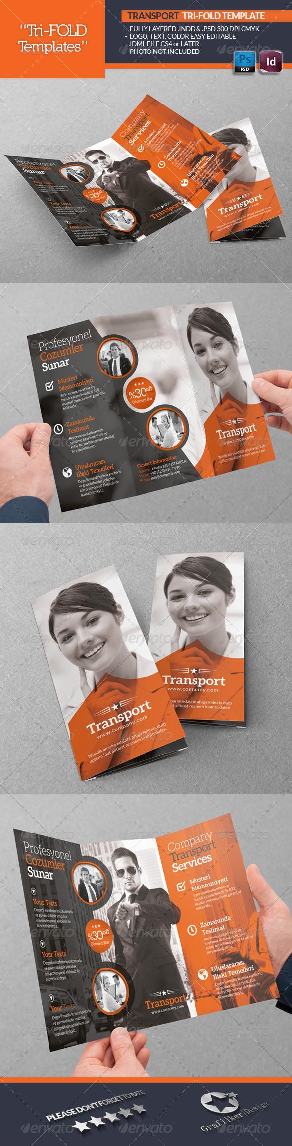GraphicRiver Transport Tri-Fold Template 5557965