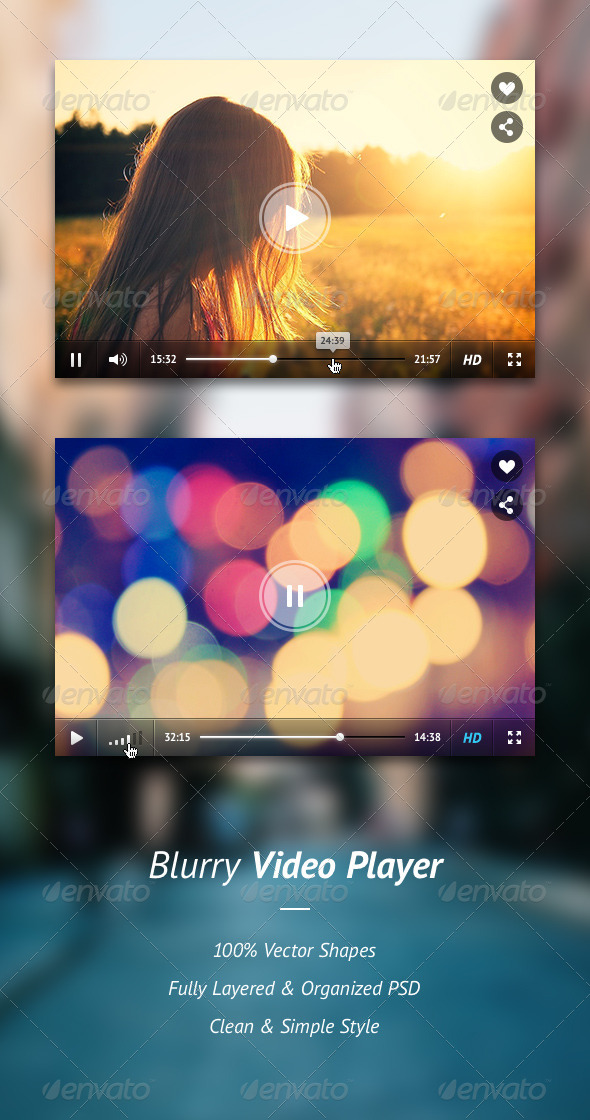 GraphicRiver Blurry Video Player 5374936