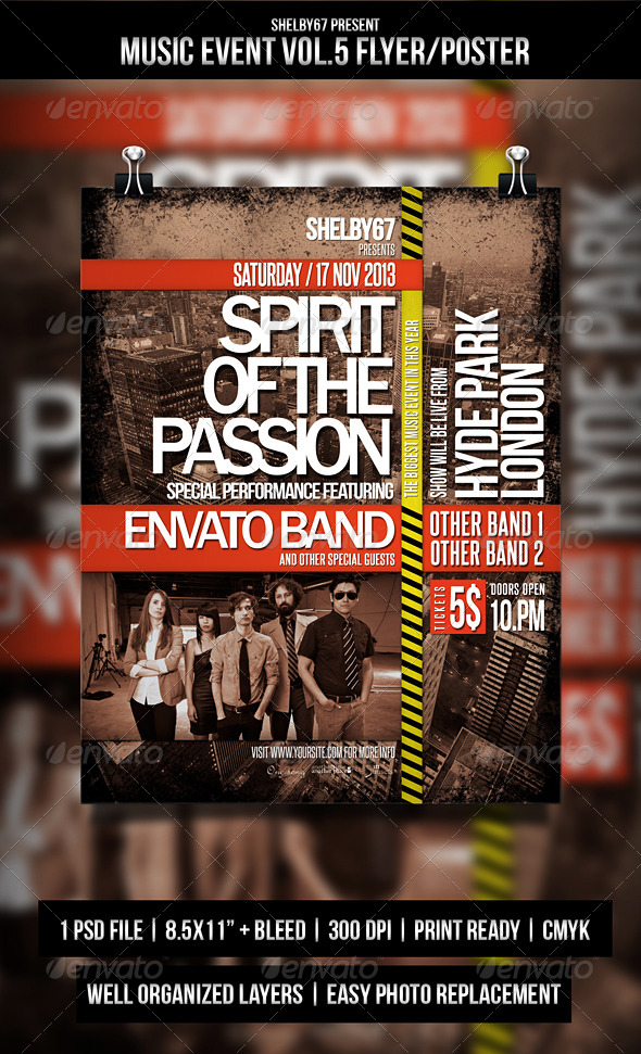 GraphicRiver Music Event Flyer Poster Vol.5 5432181