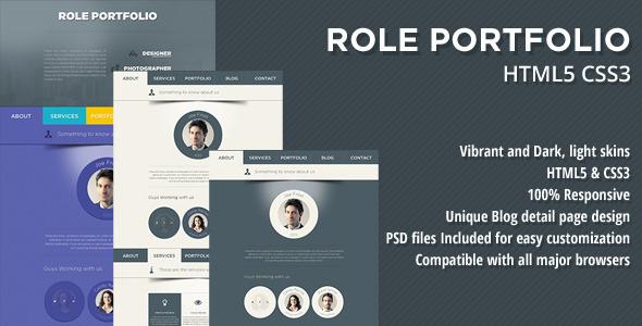 ThemeForest Role One Page Portfolio 5558397