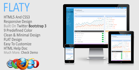 FLATY - Premium Responsive Admin Template - Admin Templates Site Templates