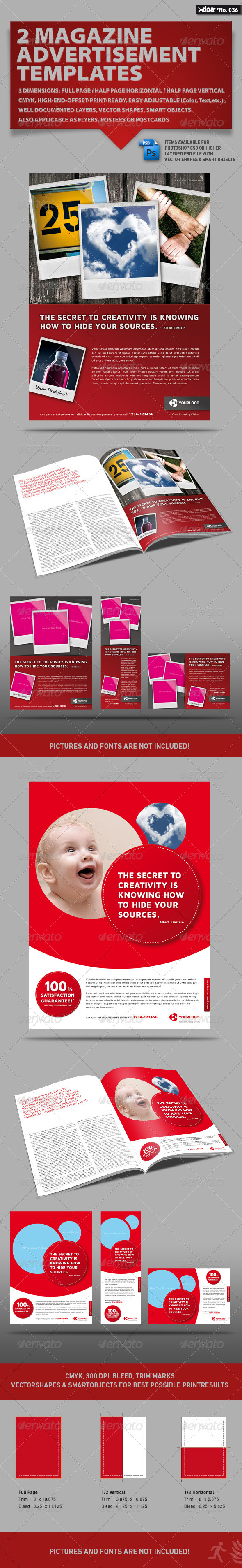 2x3 Magazine AD Templates - Corporate Flyers