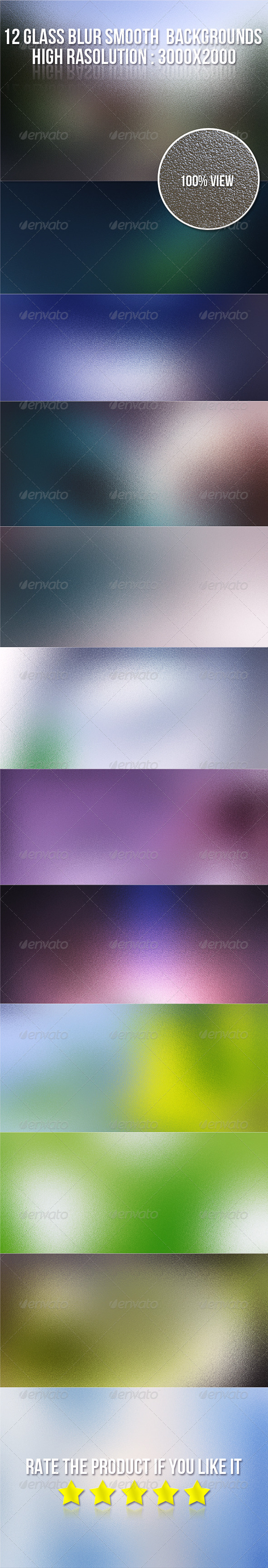 GraphicRiver 12 Glass Blur Smooth Backgrounds 5558802