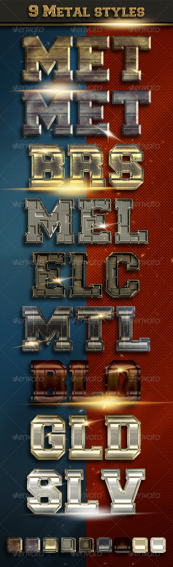 GraphicRiver 9 Metal Text Styles vol 3 5558950