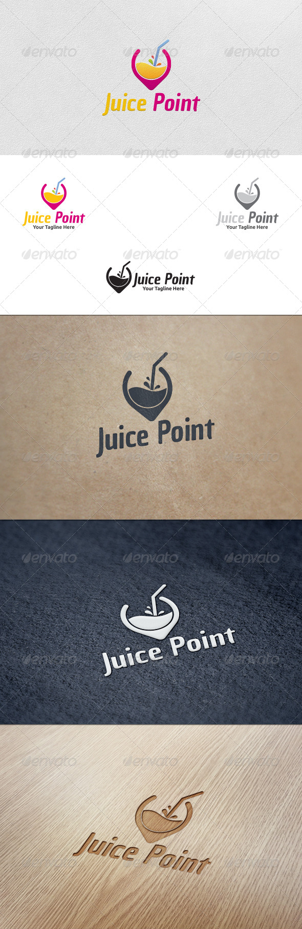 GraphicRiver Juice Point Logo Template 5559685