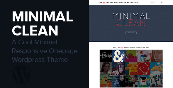 Minimal Clean - A Cool Onepage Wordpress Theme