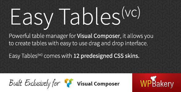 CodeCanyon Easy Tables Table Manager for Visual Composer 5559903