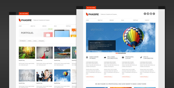 Phasire - Business and Portfolio WordPress Theme