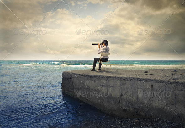 Spying on the Pier - Stock Photo - Images