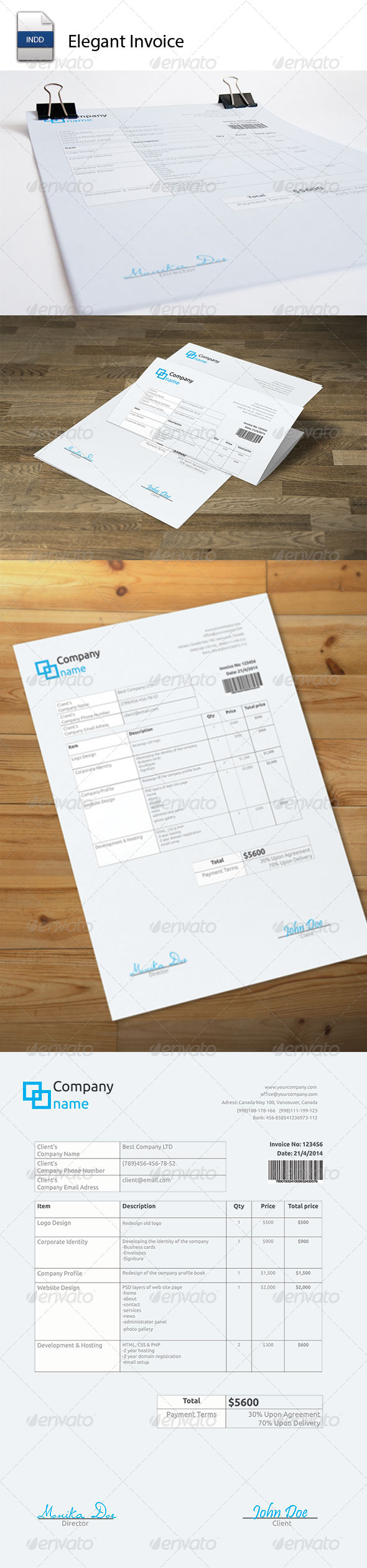 GraphicRiver Elegant Invoice 5540086