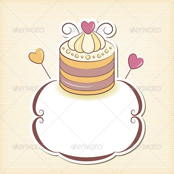 GraphicRiver Cupcake Design Frame 5560177