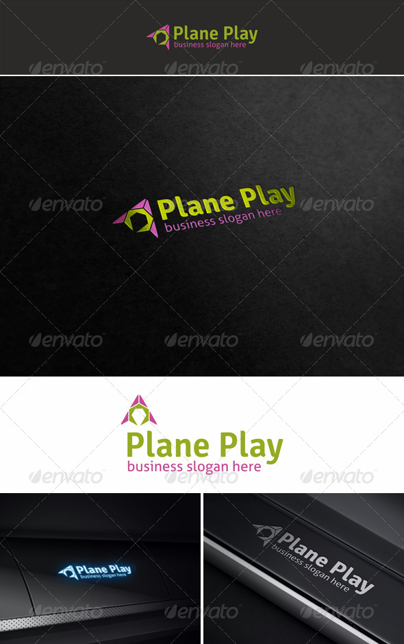 GraphicRiver Plane Play Media Logo 5560282
