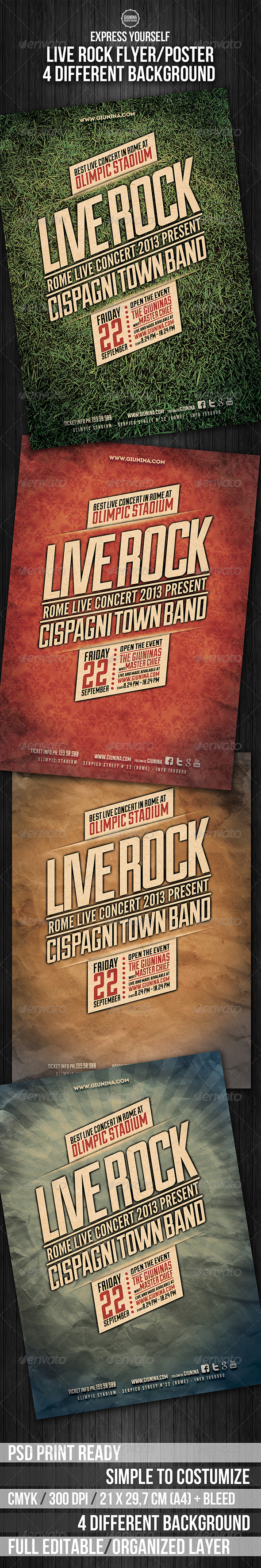 GraphicRiver Live Rock Flyer Poster 5532549