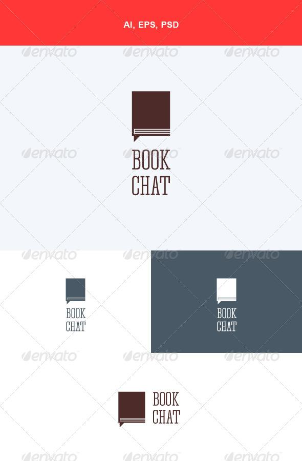 GraphicRiver Book Chat Logo 5547412
