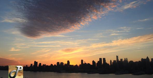 VideoHive New york City Sunrise Skyline 5560497