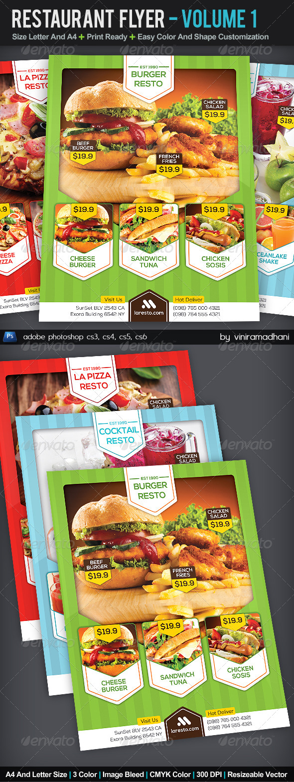 GraphicRiver Restaurant Flyer Volume 1 5560525