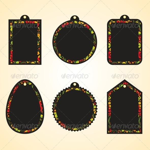GraphicRiver Hohloma Hangtags Set 5560557