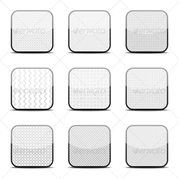 GraphicRiver White Textured Icon Templates 5560582