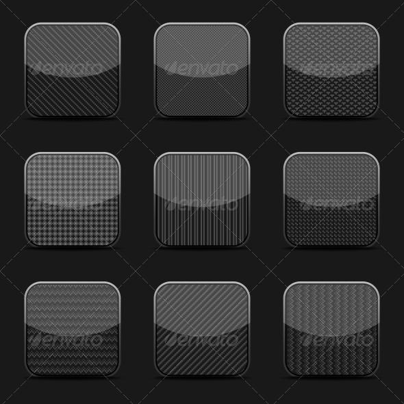 GraphicRiver Black Textured Icon Templates 5560586