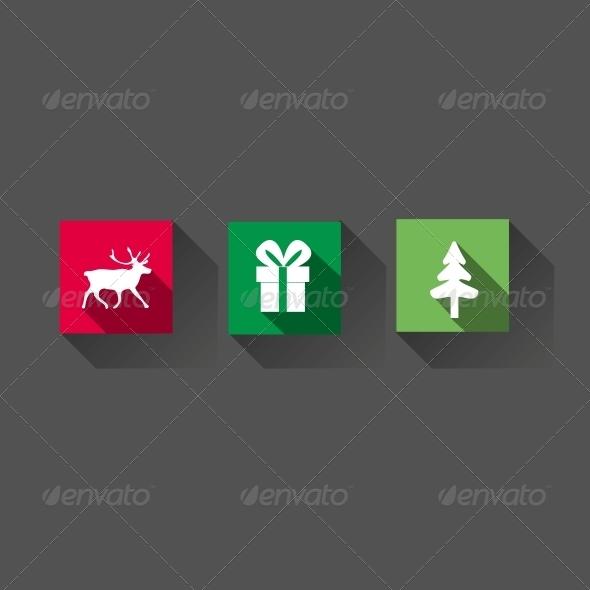 GraphicRiver Flat Long Shadow Christmas Icons 5560604