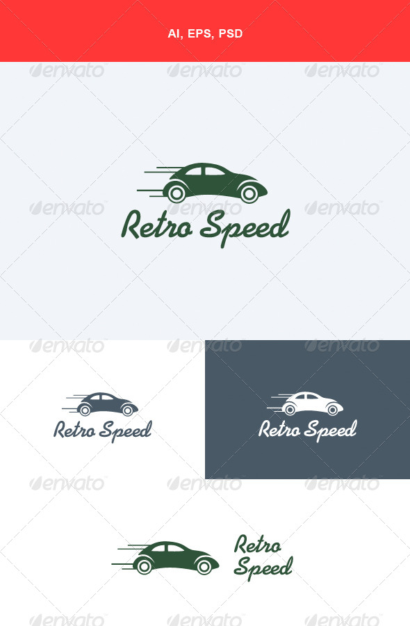 GraphicRiver Retro Speed Logo 5548614
