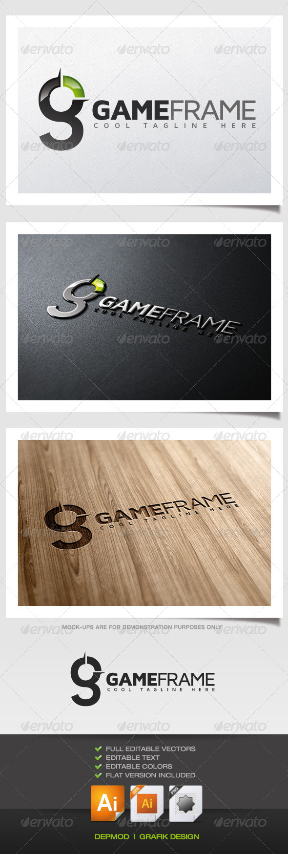 GraphicRiver Game Frame Logo 5515183