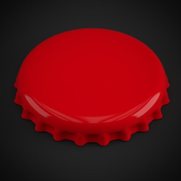3DOcean Bottle Tin Cap 5560677