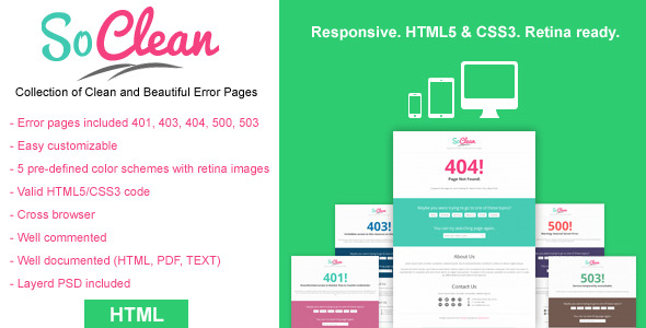 SoClean - Clean and Beautiful Errors Pages - 01_preview1